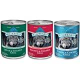 Blue Buffalo Wilderness No Grain Wet Adult Dog Food Variety Pack, 3 Flavors, 12.5-Ounces each by Blue Buffalo