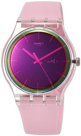 Swatch Reloj Analógico para Mujer de Cuarzo con Correa en Silicona SUOK710: Amazon.es: Relojes