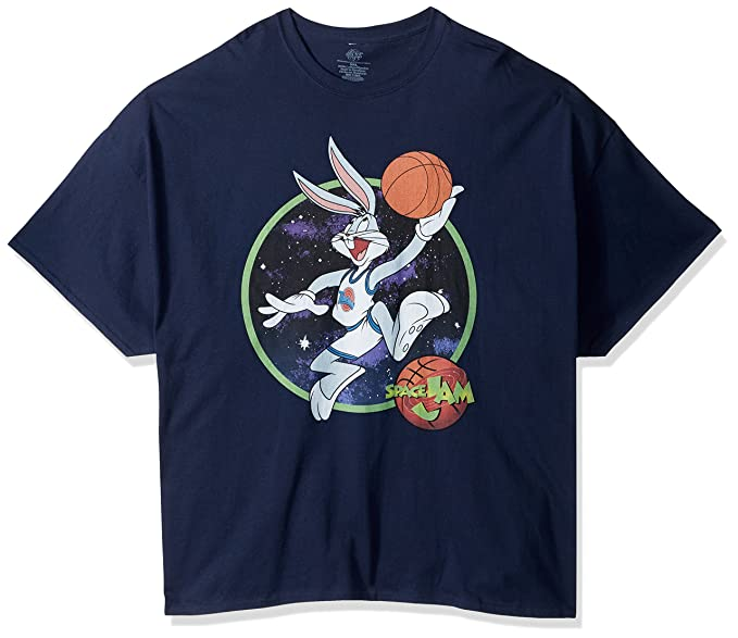 25b9f7a23b1df7 Amazon.com  Warner Brothers Men s Bugs Dunk Space Jam T-Shirt  Clothing