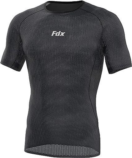 FDX Homme à Manches mi-longues Cool Mesh Couche De Base Léger Running Maillot de cyclisme//Top