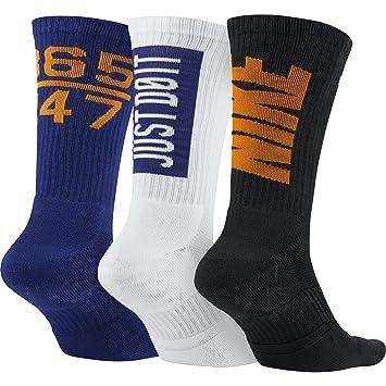 Nike 3PPK DRI-FIT Fly V4 Crew (S,M) - Pack 3 Pares de Calcetines para Hombre, Color Rojo, Talla M: Amazon.es: Deportes y aire libre