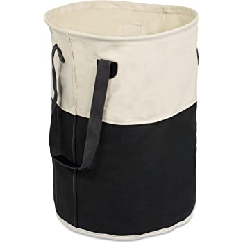 Amazon Com Birdrock Home Round Cloth Laundry Hamper With