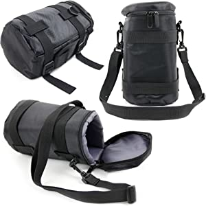 DURAGADGET Black Protective Water-Resistant Speaker Carry Bag - Compatible with The Vaux Cordless Home Speaker