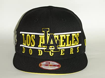 4f094f884b4 Image Unavailable. Image not available for. Color  New Era MLB LA Dodgers  Block Black 2 Tone Snapback Cap ...