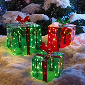 3 Lighted Gift Boxes Christmas Decoration Yard Decor 150 Lights Indoor  Outdoor Buyer's Choice (1 - Amazon.com : 3 Lighted Gift Boxes Christmas Decoration Yard Decor