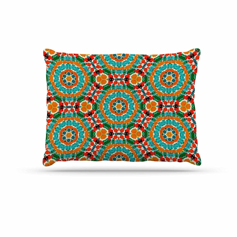 KESS InHouse Miranda MOL Hexagon Tiles orange Teal Pattern Dog Bed, 30  x 40