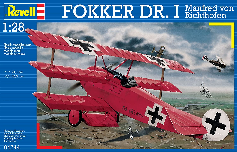 Revell Dr.I Maqueta Fokker DR. I Manfred Von Richthofen, Kit de Modelo, Escala 1:28 (4744) (04744): Amazon.es: Juguetes y juegos