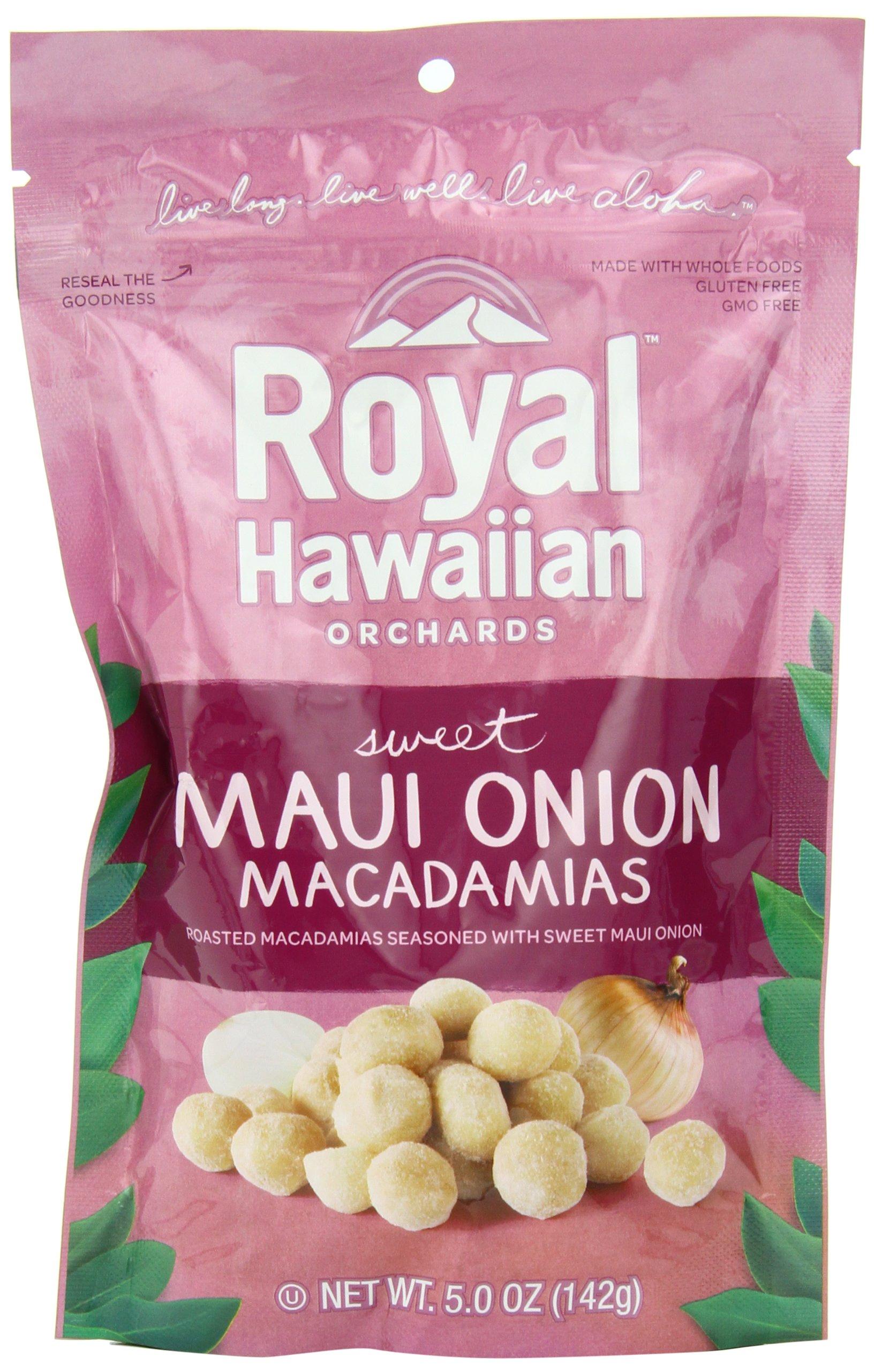 Royal Hawaiian Orchards Macadamias, Sweet Maui Onion, 5 Ounce