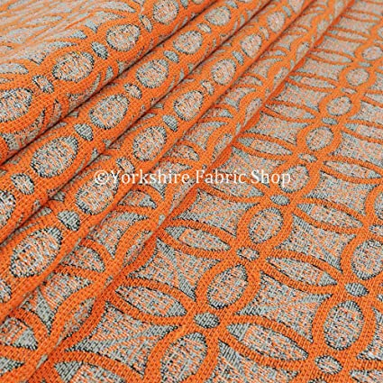 Yorkshire Fabric Shop Exclusiva tela color naranja Medallion ...