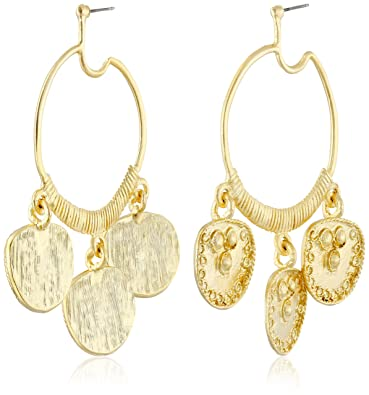 Kenneth Jay Lane Gold-plated Hoop Earrings wNoCQAaQG