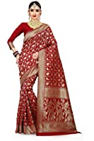 Vatsla Enterprise Women's Cotton Silk Patola Work Bridal Red Saree With Blouse Piece (VATDSNNO1_RED_Colour)