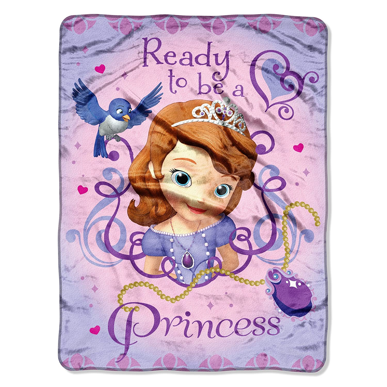 Disney's Sofia The First, Ready To Be A Princess Micro Raschel Throw Blanket, 46 x 60, Multi Color Disney' s Sofia The First 46 x 60 1DSF059000001RET