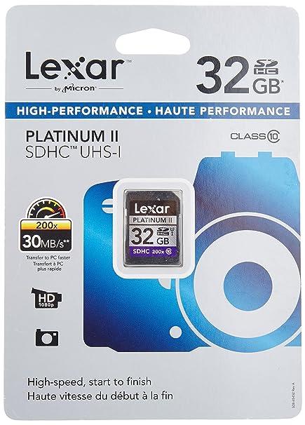 Lexar Platinum II SDHC - Tarjeta de Memoria de 32 GB (SDHC ...