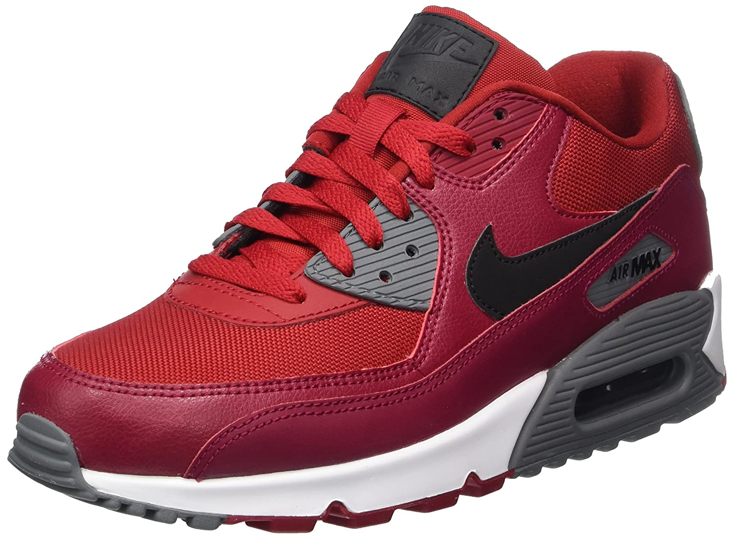 NIKE Men's Air Max 90 Essential Running Shoe B075Z57B3B 8 D(M) US|Gym Red/Black/Noble Red