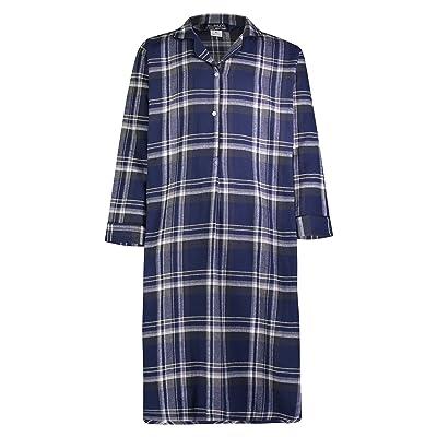 Bill Baileys Sleepwear Men's 100% Cotton Flannel Nightshirt Sleep Shirt at Men's Clothing store