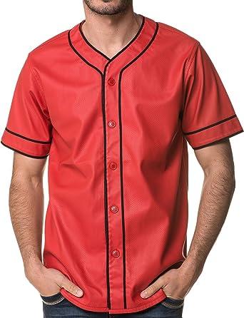 Sixth June - Camisa casual - Animal Print - Manga corta - para hombre rojo Large: Amazon.es: Ropa y accesorios