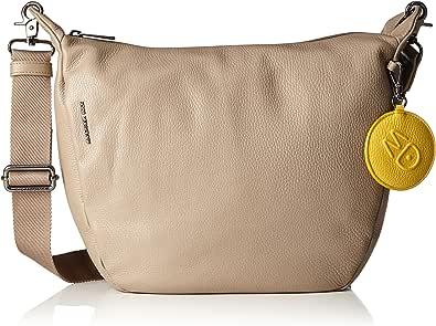 Mandarina Duck Mellow Leather Tracolla, Bolso Cruzado para Mujer, Negro, 29x12x34.5 cm (B x H x T)
