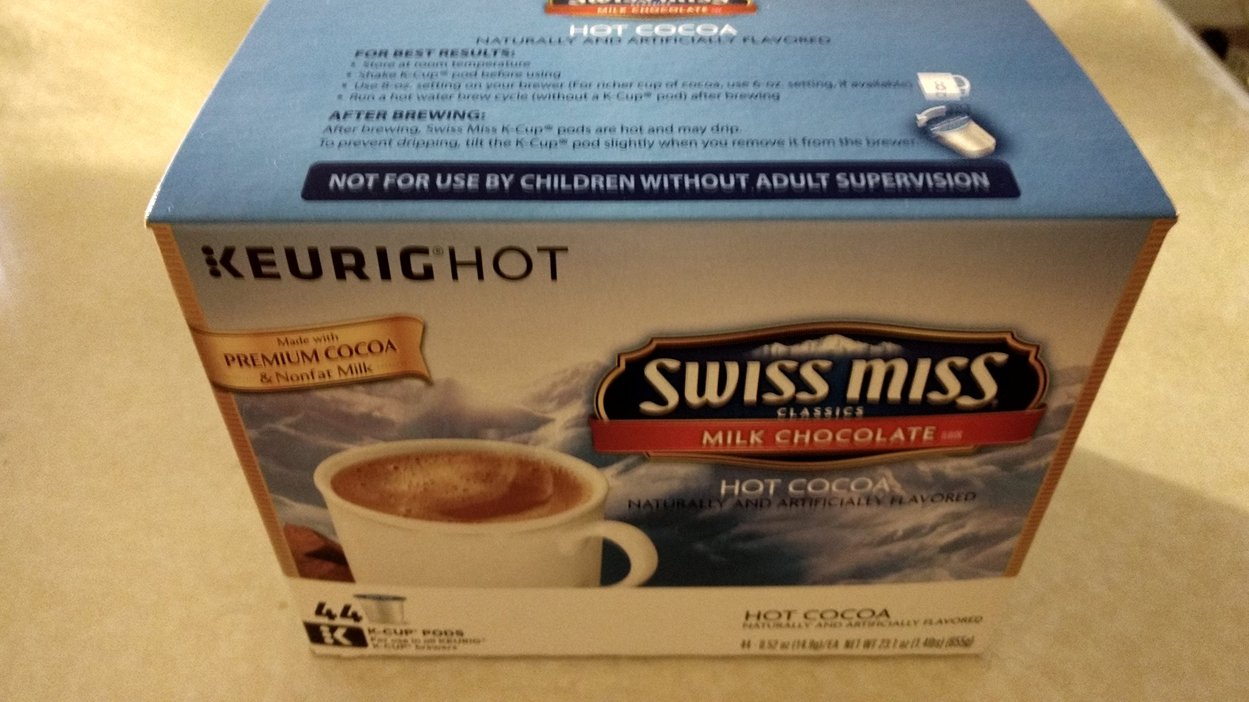 Keurig Swiss Miss Milk Chocolate Hot Cocoa 44-ct. K-Cup Pods Value Pack (Packaging May Vary) by Swiss Miss