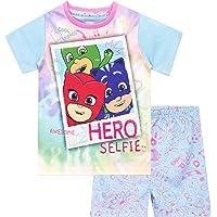 PJ Masks Pijamas de Manga Corta para niñas