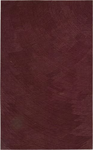Nourison Mystique Rasberry Rectangle Area Rug, 5-Feet 6-Inches by 7-Feet 4-Inches 5 6 x 7 4