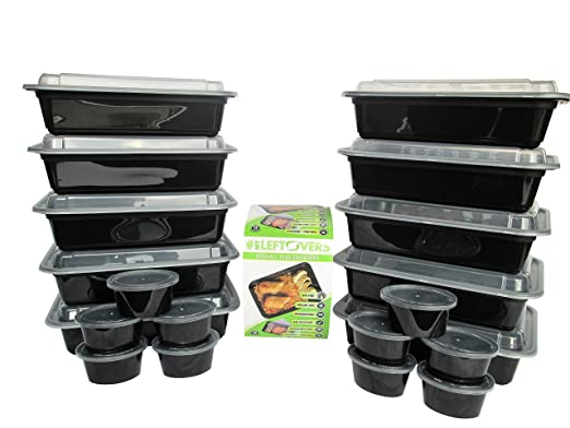 PREMIUM económico Durable reutilizable Alimentos Contenedores w ...