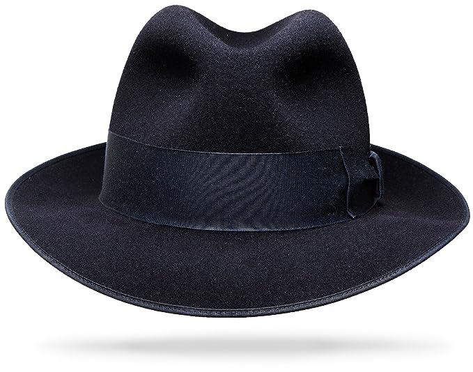 Steampunk Men's Hats Milan Black Hat $175.00 AT vintagedancer.com