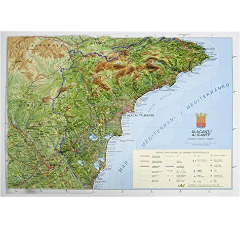 Mapa en relieve de Alicante: Escala 1:150.000: Amazon.es: All 3D Form, S.L.: Libros