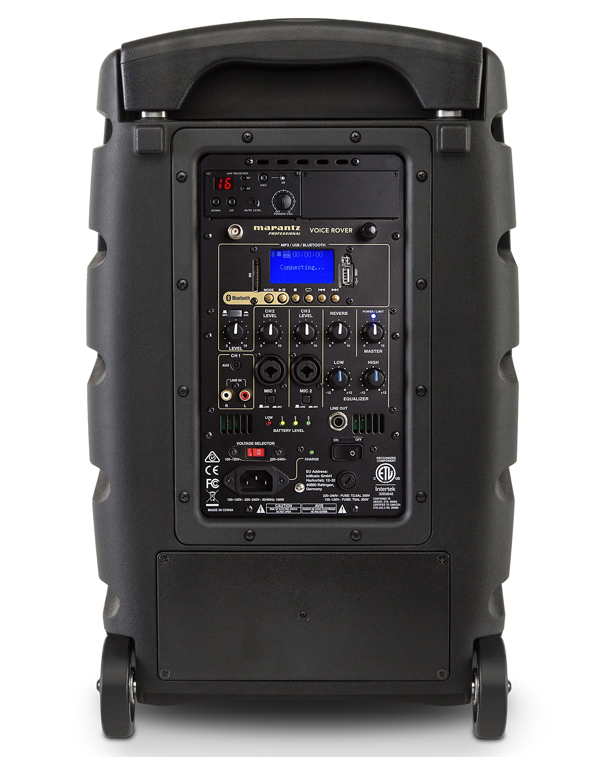 Marantz Professional Voice Rover | 10'' Portable AC/Battery-Powered PA System with Bluetooth and UHF Wireless Mic by Marantz Professional (Image #2)