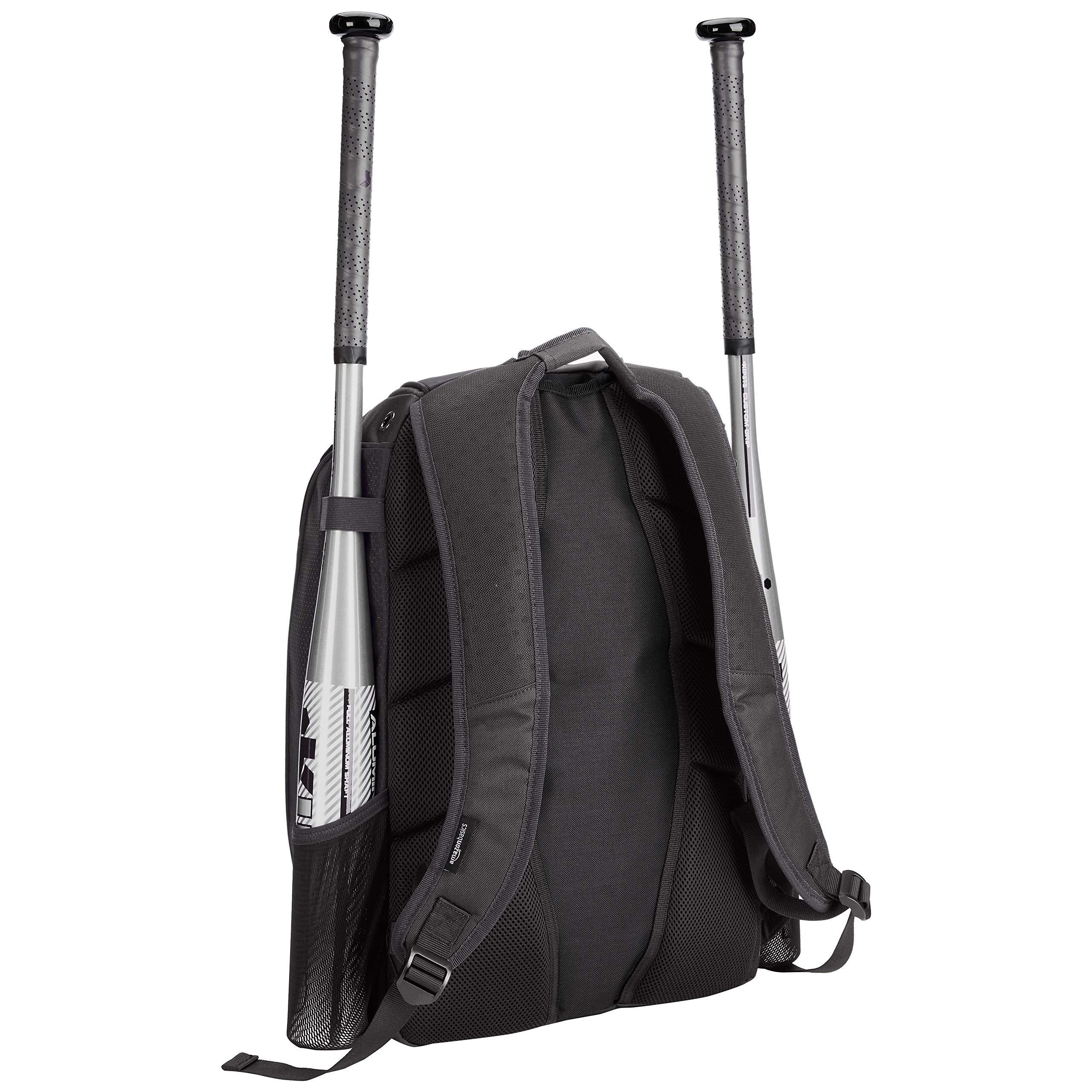 AmazonBasics Youth Baseball Equipment Backpack, Black by AmazonBasics (Image #3)