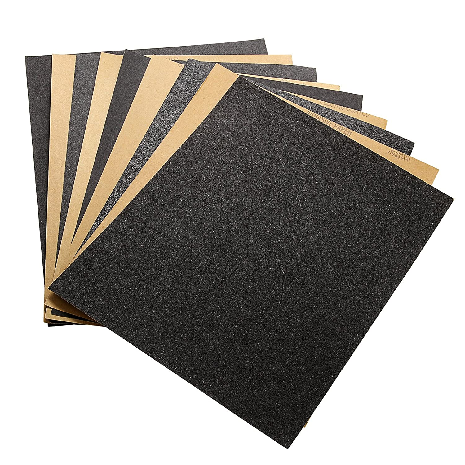 60 To 2000 Assorted Grit Sandpaper for Wood Furniture Finishing, Metal Sanding and Automotive Polishing, Wet or Dry Sanding, 9 x 11 Inch, 34 Sheet