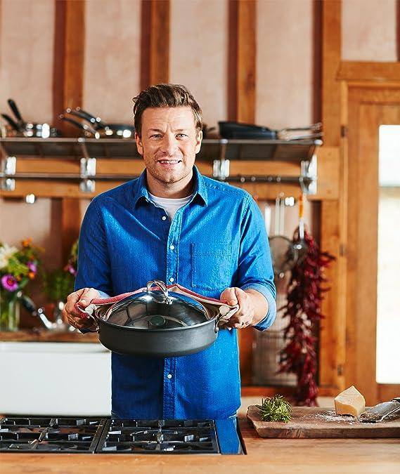 Tefal Cacerola Jamie Oliver E76690 Estructura rígida de