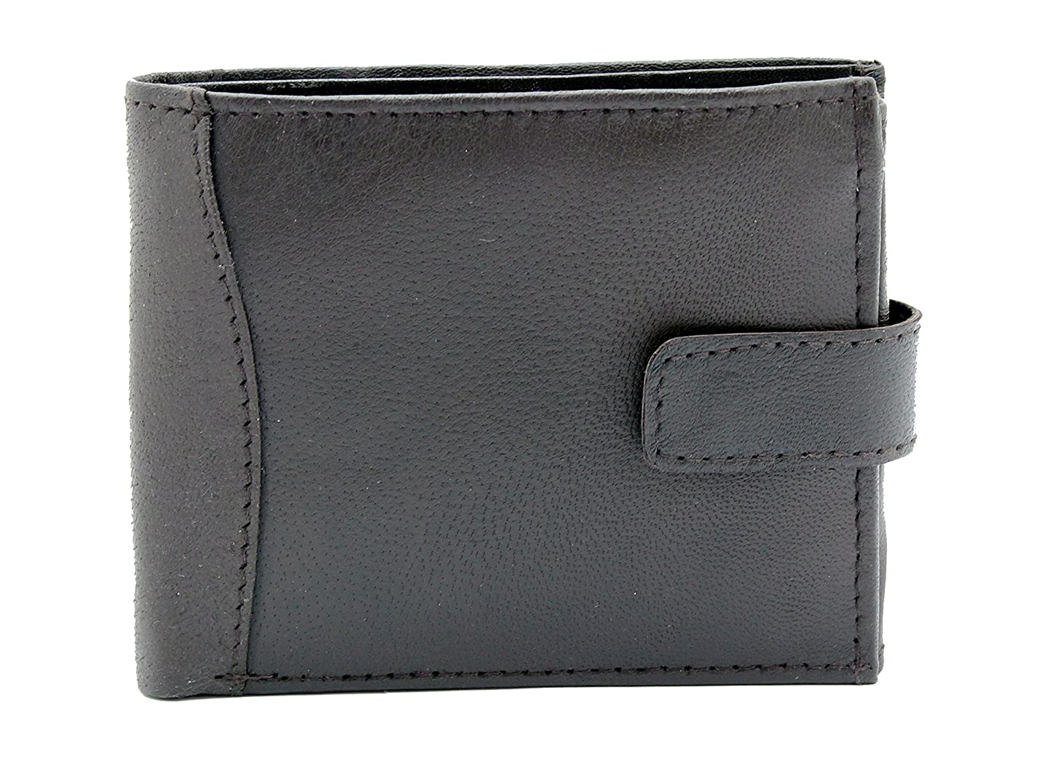 MENS SOFT GENUINE LEATHER WALLET CREDIT CARD SLOTS & COIN POCKET #340 RAS WALLETS
