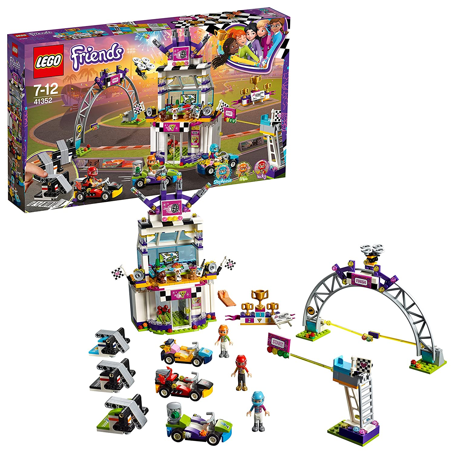 Lego 41352 Friends Heartlake The Big Race Day Playset Stephanie Mia