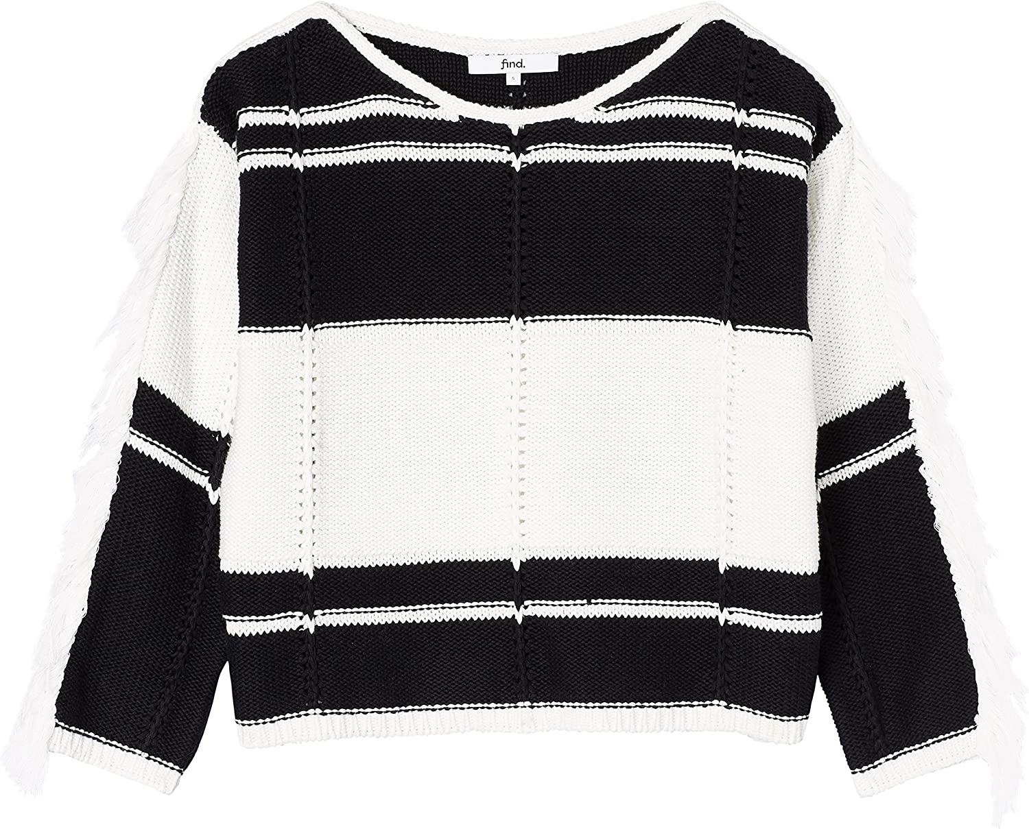 Brand Womens Tassel Colour-Block Knit find