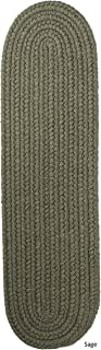 product image for Rhody Rug Madeira Braided Reversible Stair Treads by Sage