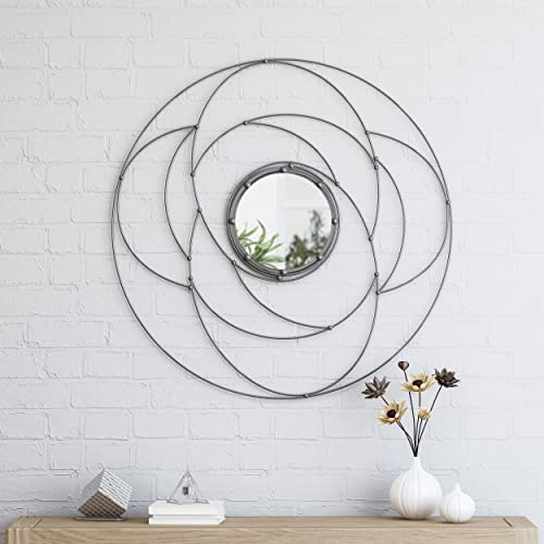Christopher Knight Home 305348 Aileen Modern Circular Wall Mirror, Silver