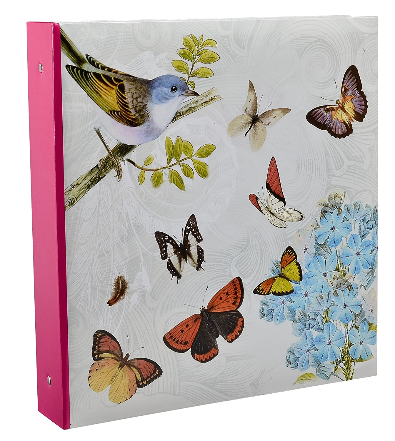 Arpan Large Cream Ring Binder Photo Album Holds 500 Photos - Butterfly by ARPAN CLARIS BB500