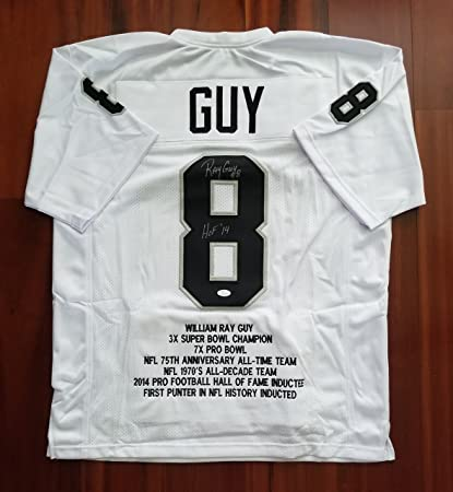dd0486e0483 Ray Guy Autographed Signed Jersey Oakland Raiders JSA at Amazon's ...