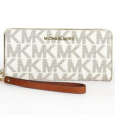 1f896425d1e7 Michael Kors Specchio Jetset Travel Continental Wristlet Vanilla: Handbags:  Amazon.com