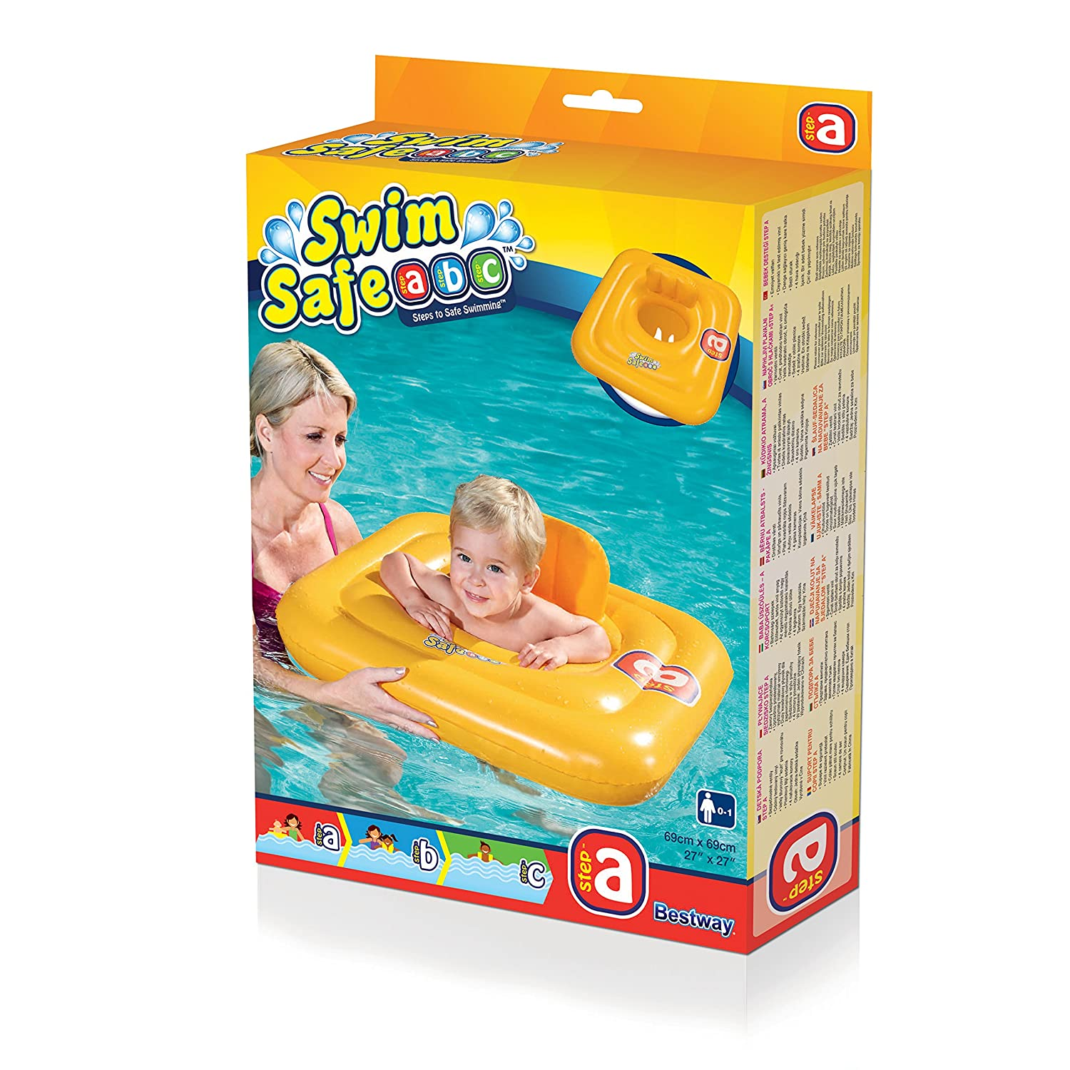 Amazon.com : Bestway Swim Safe Baby Support Seat Swimming Aid For Ages 1-2 Years : Inflatable Swim Rings : Baby