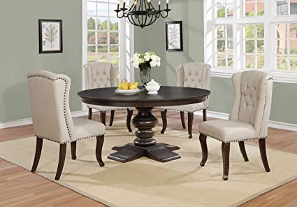 Amazon Com Best Quality Furniture D33dt Dining Round Table Single