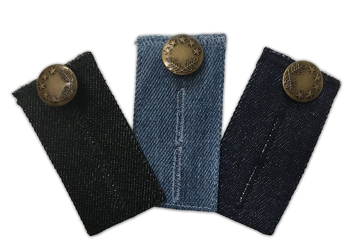 3-pack Jeans Waist Extender for All Your Pants and Jeans