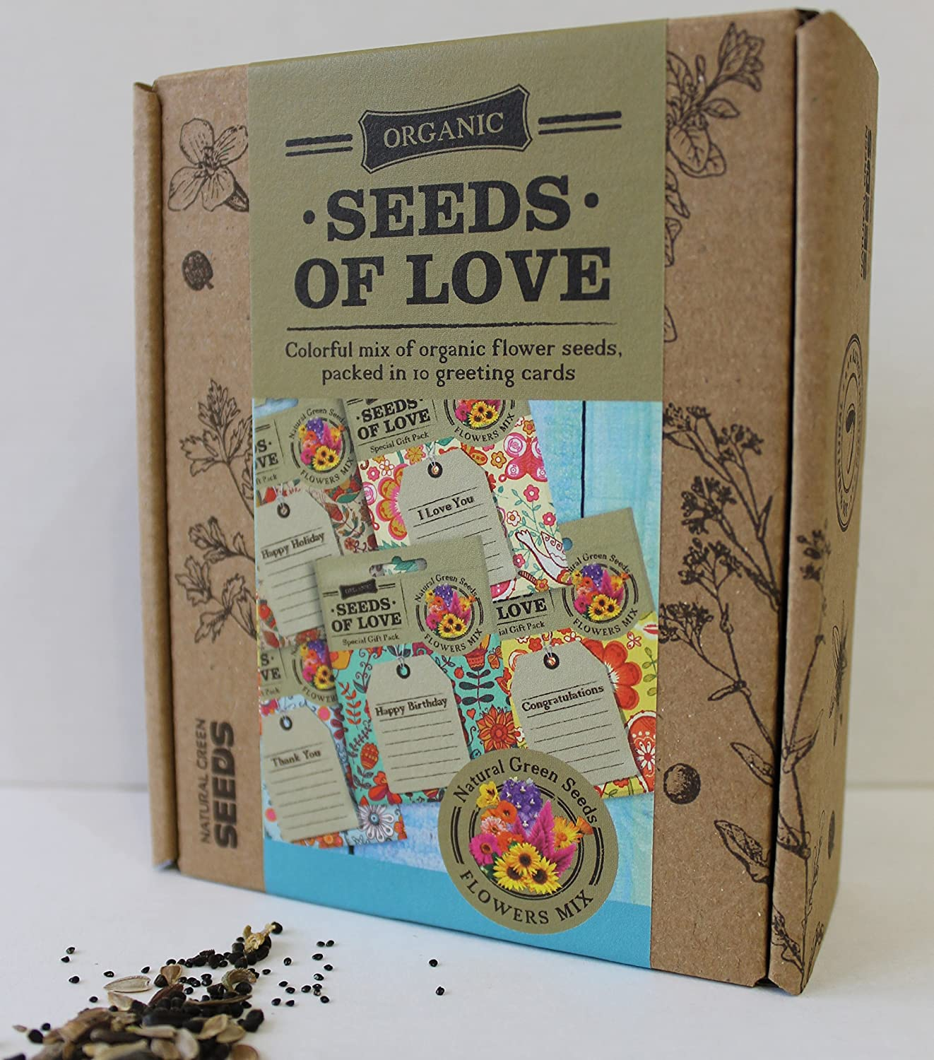 greeting cards seed packets with greetings printed on