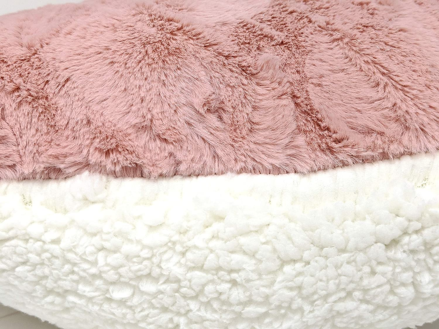 Pink//White One Size Tache Home Fashion #7-HeartPillow Faux Fur Throw Pillow Heart