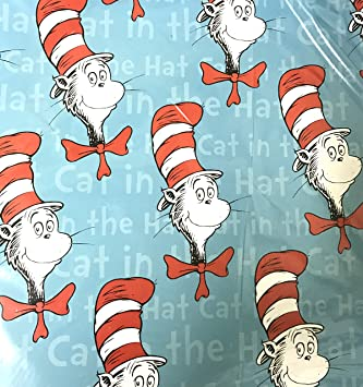 Dr Seuss Cat In The Hat 275 X 20 Inch Gift Wrapping Paper