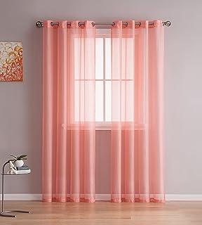 Grommet Semi Sheer Curtains