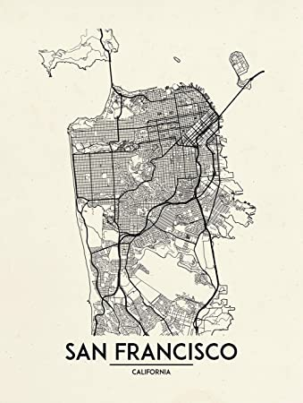 Amazon.com: Inked and Screened San Francisco - Street Map ... on maryland map poster, florida map poster, united states map poster, california poster, chicago map poster, ohio map poster, toronto map poster, paris map poster, germany map poster, los angeles poster, brooklyn map poster, venice map poster, indianapolis map poster, mississippi map poster, hong kong map poster, austin map poster, new england map poster, seattle map poster, columbus map poster, north carolina map poster,
