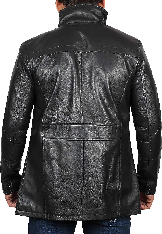 BlingSoul Mass Effect N7 Real Leather Jacket Black - Bristol Jacket GCqQv