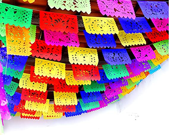 Red and Green Garland 10 Tassel Mexican Party Tissue Paper Garland Mexican Flag Independence Wedding Fiesta Mexican Party Decoration