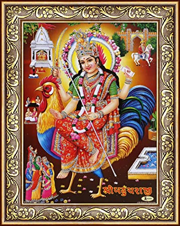 Avercart Goddess Bahuchar Poster 5x7 Inch Framed With Frame Size 7x9 Inch Amazon In Home Kitchen